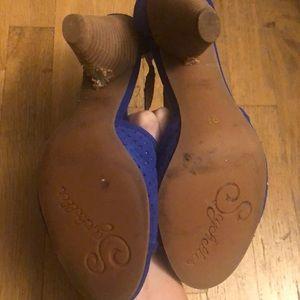 Seychelles Shoes - Seychelles Cobalt blue peep toe heels 9.5